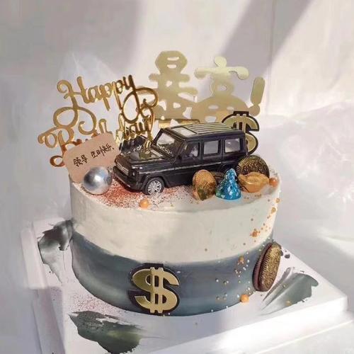 暴富款男神汽车蛋糕