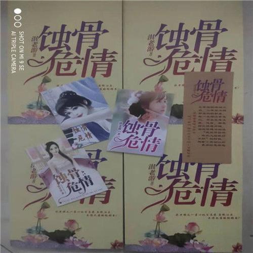 新版原创蚀骨危情全套小说无删减淇老游实体书1234册书签明信片 全套4