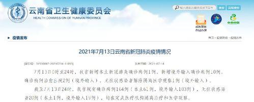 7月13日云南新增本土确诊病例1例 境外输入病例10例