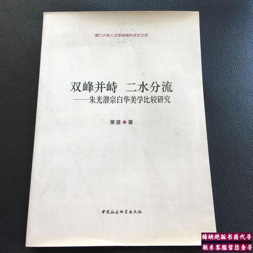 【二手9成新】双峰并峙二水分流:朱光潜宗白华美学比较研究 /萧湛