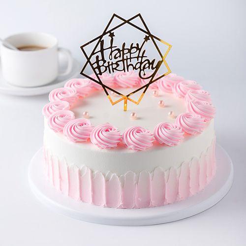 奶油裱花蛋糕模型仿真2020新款网红塑胶假蛋糕生日蛋糕样品t339