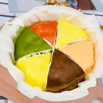 网红六拼千层蛋糕彩虹蛋糕爆浆奶油榴莲千层休闲零食甜品糕点 榴莲