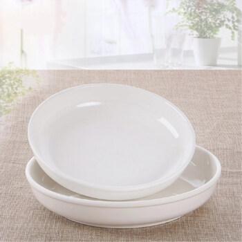 塑料盘子快餐盘密胺盘烧菜盘汤盘酒店深口盘 8寸深圆盘【口径约20cm】